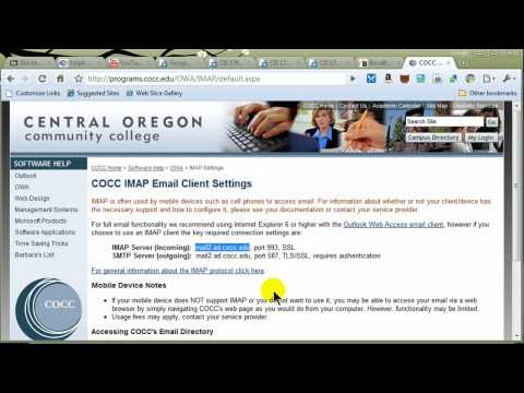 Setting Up Outlook Express (Vista Mail) with IMAP