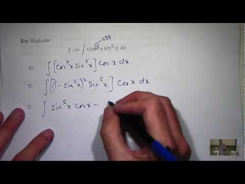 Integrals of trig functions: powers + products