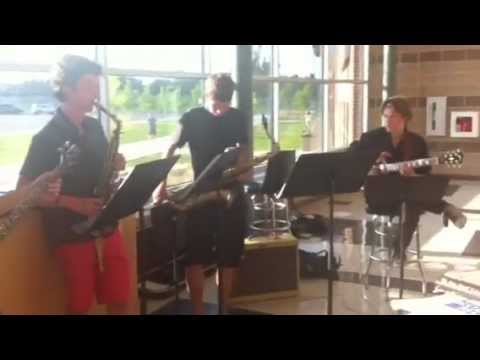 High School Jazz Band plays Impressions