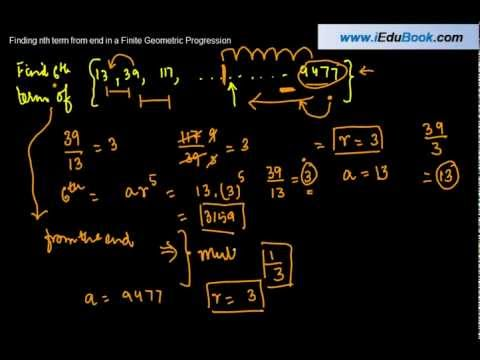 Geometric Progression - Computing term from the End - - Class XI Maths CBSE