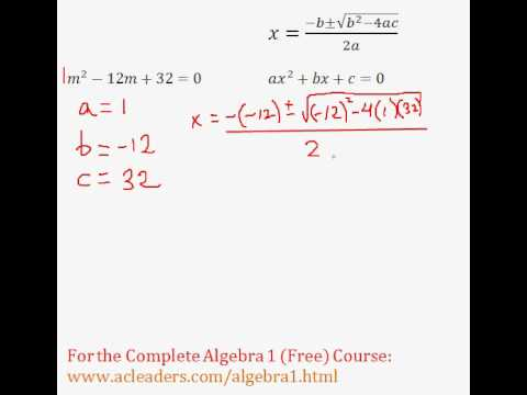 (Algebra 1) Quadratics - Quadratic Formula Pt. 3