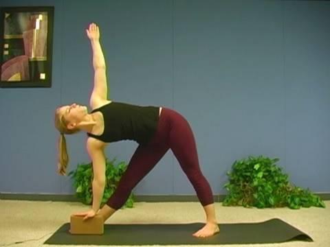 Yoga Poses w/ Sonja 1, Extended Triangle Pose - Utthita Trikonasana Yoga for Beginners