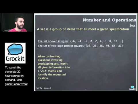 Grockit SAT TV Course Lesson 5, Part 1 (Math, Numbers and Operations, Geometry 1)