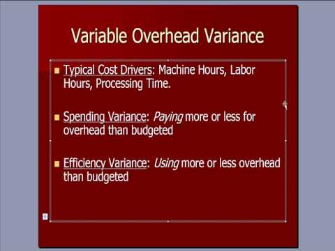 Cost Accounting 15: Overhead Variance Analysis
