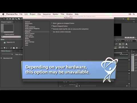 Adobe Premiere Pro CS5: Chapter 3: IMPORTING MEDIA: The Capture Window Controls