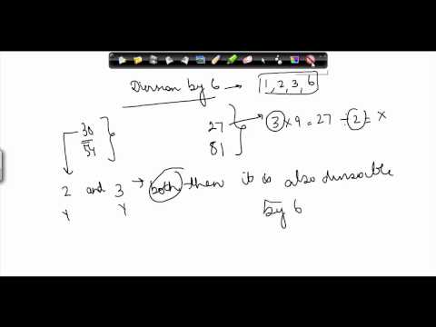 $ CBSE Class VI maths, ICSE Class 6 maths -  When is a number divisible  by 8,6 and 4