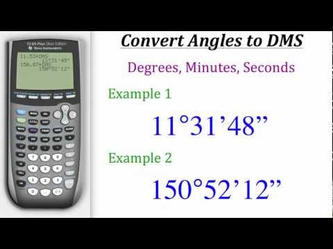 TI Calculator Tutorial: Converting Angles to DMS