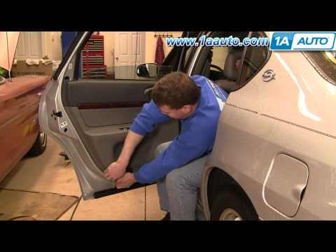How To Install Repair Replace Rear Door Panel Chevy Chevrolet Impala 00-05 1AAuto.com