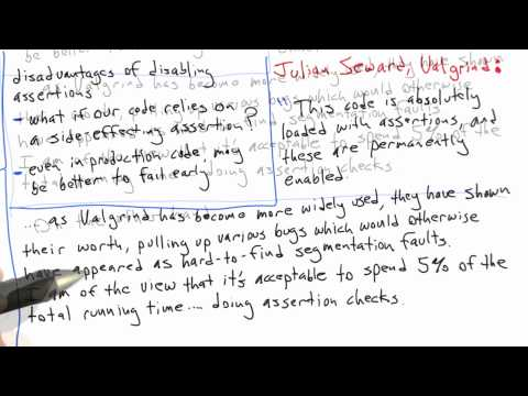 When to Use Assertions - Software Testing - Udacity