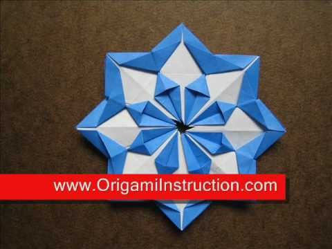 How to Fold Origami Modular Diamond Star - OrigamiInstruction.com