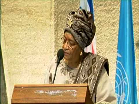 Ellen Johnson Sirleaf, co-winner of this year's Nobel Peace Prize