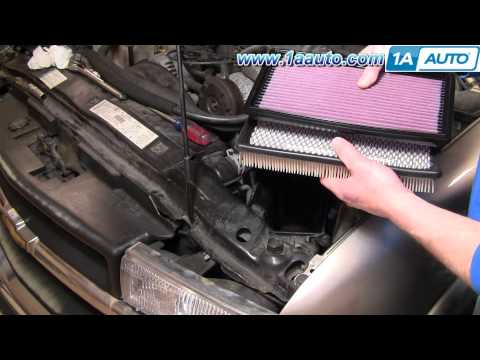 How To Install Replace Air Filter Chevy GMC S10 Blazer Jimmy Pickup 4.3L 92-07 1AAuto.com