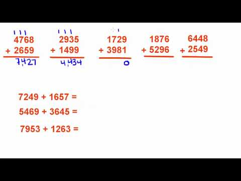 Basic Math Tutorial - 1 - Addition of Whole Numbers