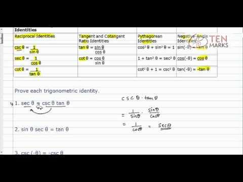Prove Trigonometric Identities
