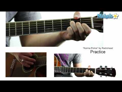 "How to Play ""Karma Police"" by Radiohead on Guitar (Practice Video)"