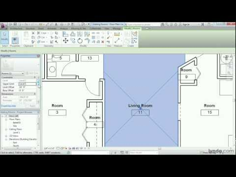 Revit Architecture: How to add rooms | lynda.com tutorial