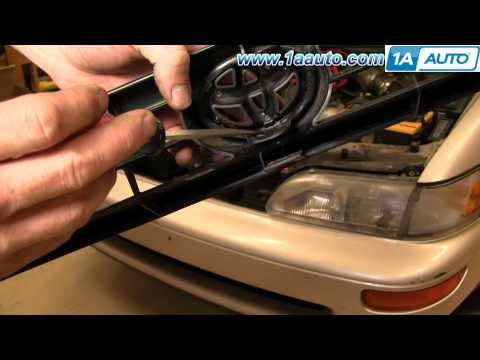 How To Install Replace Broken Radiator Grill Toyota Corolla 93-95 1AAuto.com