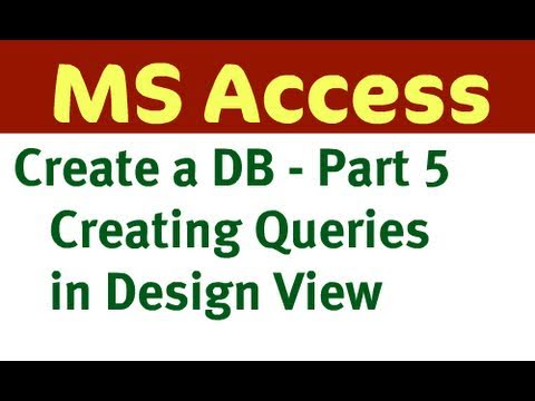 Create Access Database - Part 5 (Queries)