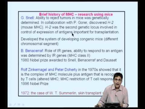 Mod-11 Lec-22 The Major Histocompatibility Complex