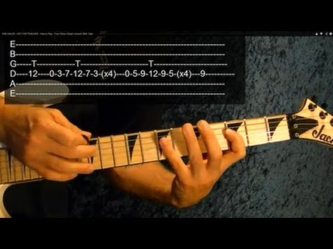 How to Play HOT FOR TEACHER Intro by VAN HALEN