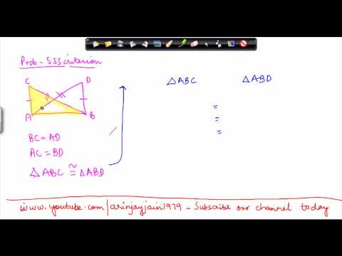 1408. Mathematics Class VII -  Congruency of Triansles - SSScriterion Problem