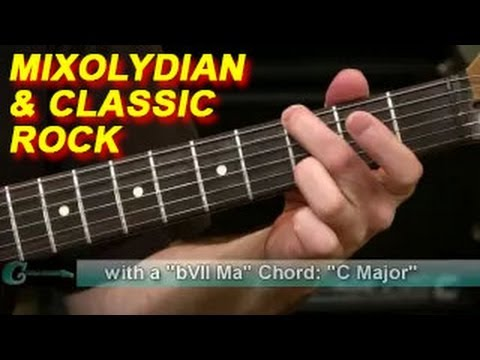 Guitar Lesson: Using Mixolydian Scale in Classic Rock