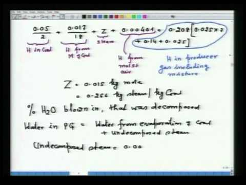 Mod-01 Lec-37 Additional topic-III Material Balance in Gasification