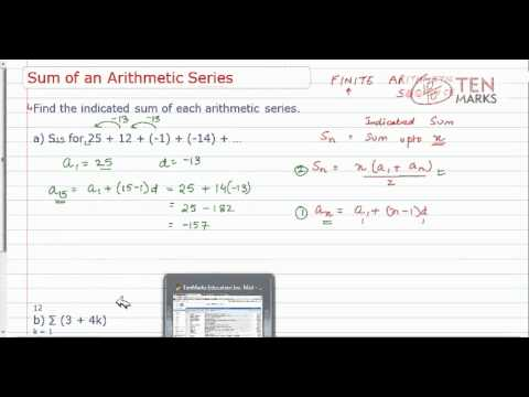 Sum of an Arithmetic Series