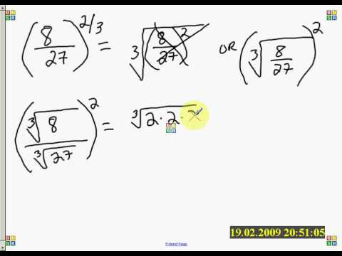 Simplify fractions raised to a fractional power