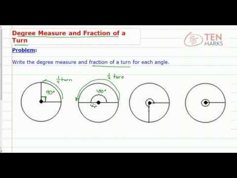 Degree Measures and Fraction of a Turn
