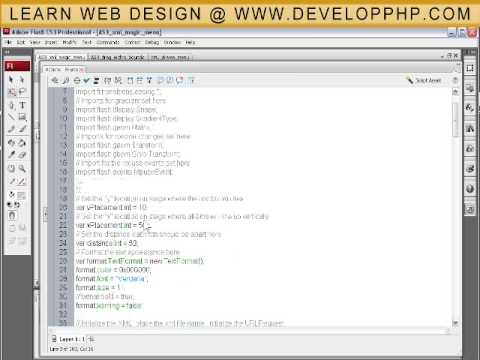 XML Magic Menu Tutorial for ActionScript 3 Flash CS3 + CS4