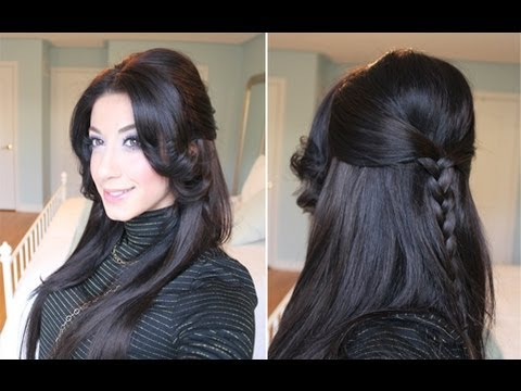 Braided Half-Up Half-Down Hairstyle