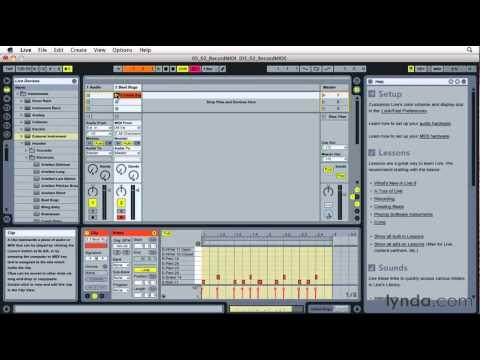 How to use Abelton Live's MIDI Overdub function | lynda.com tutorial