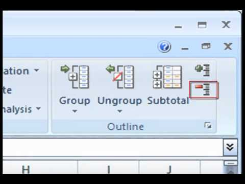 Excel 2007: Organizing Data
