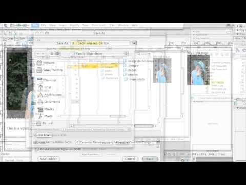 Adobe  Dreamweaver CS3 CREATING WEBSITES WITH FRAMES   Creating a Frameset
