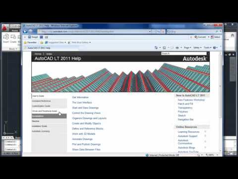 AutoCAD LT 2011 Demo 10: Learning Resources