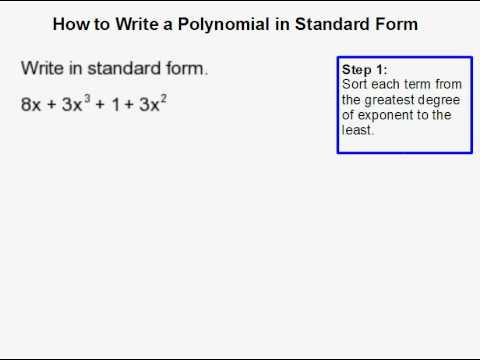 How to Write a Polynomial in Standard Form