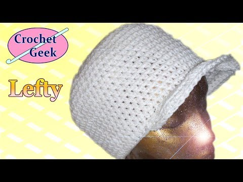 Left Hand Crochet Hat with Brim