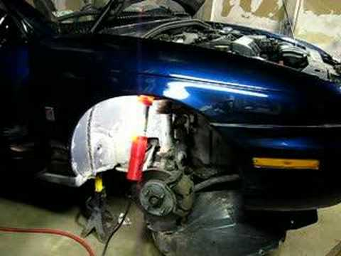 Automobile Front Fender Removal