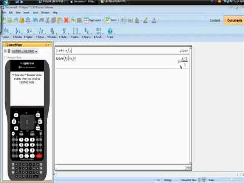 How to use your Ti-Nspire CAS to find inverse functions