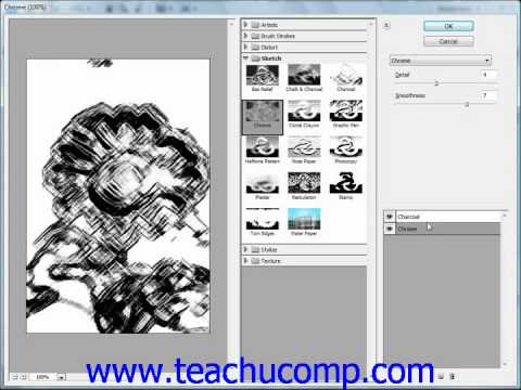 Photoshop Tutorial Filters and the Filter Gallery Adobe Training Lesson 14.10