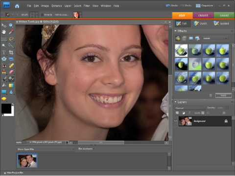 Photoshop Elements 7 Tutorial - whiten teeth tool