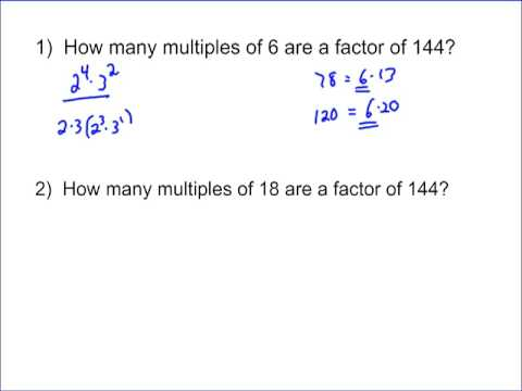 Factors that are Multiples
