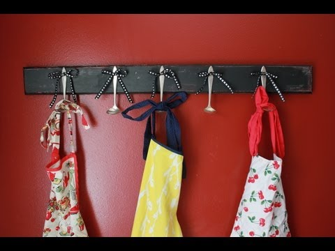 Make A Hanging Spoon Rack