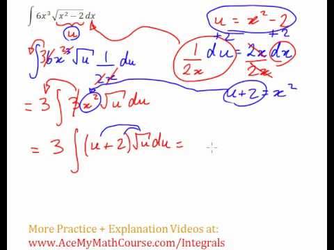 Integration by Substitution - Example and Explanation #8