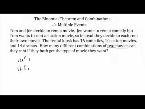 The Binomial Theorem and Combinations Tutorial