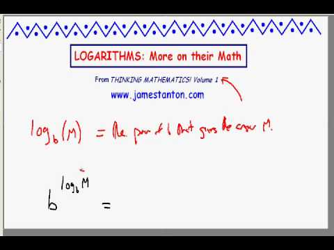 Logarithms: More Mathematics about them PART I (TANTON Mathematics)
