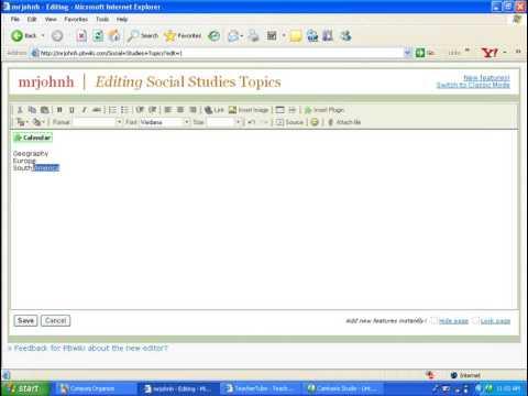 PB Wiki  Adding a Page