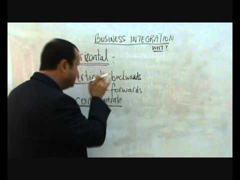 Business Integration - vertical, horizontal and conglomerate.