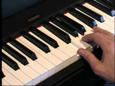 Piano Lessons - How to play Minor Chords & Triads using the white keys